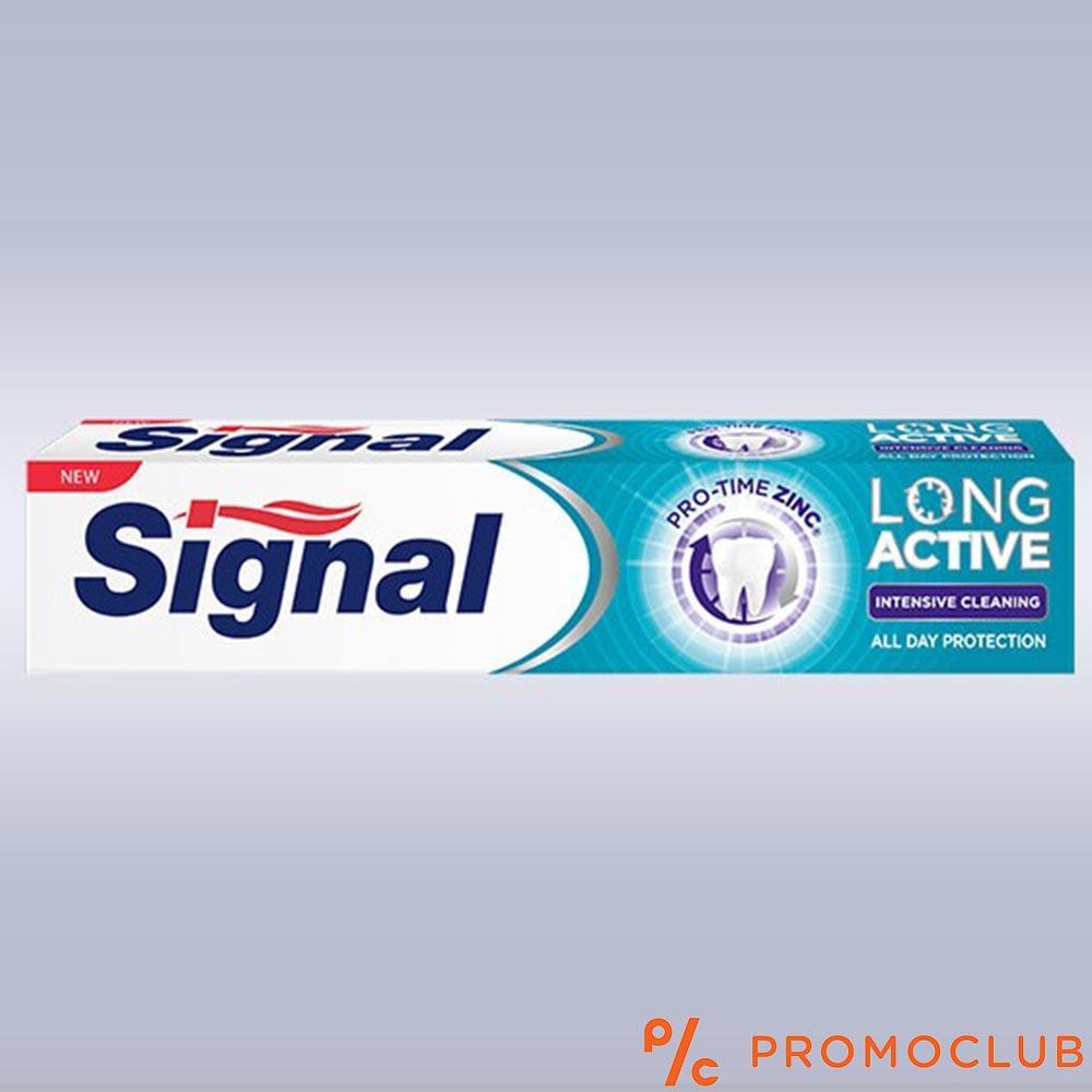 Антибактериална паста за зъби SIGNAL Long Active Intensive Cleaning с цинк и микрогранули