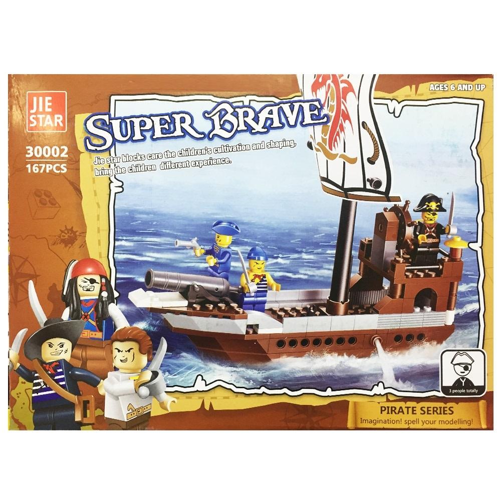 Пиратски конструктор тип ЛЕГО SUPER BRAVE в 167 части, 4+