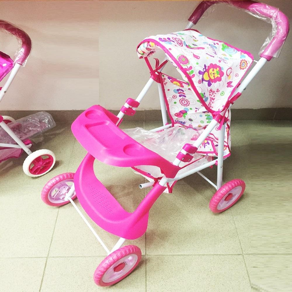 Голяма метална детска количка с масичка за хранене, много здрава, 3+