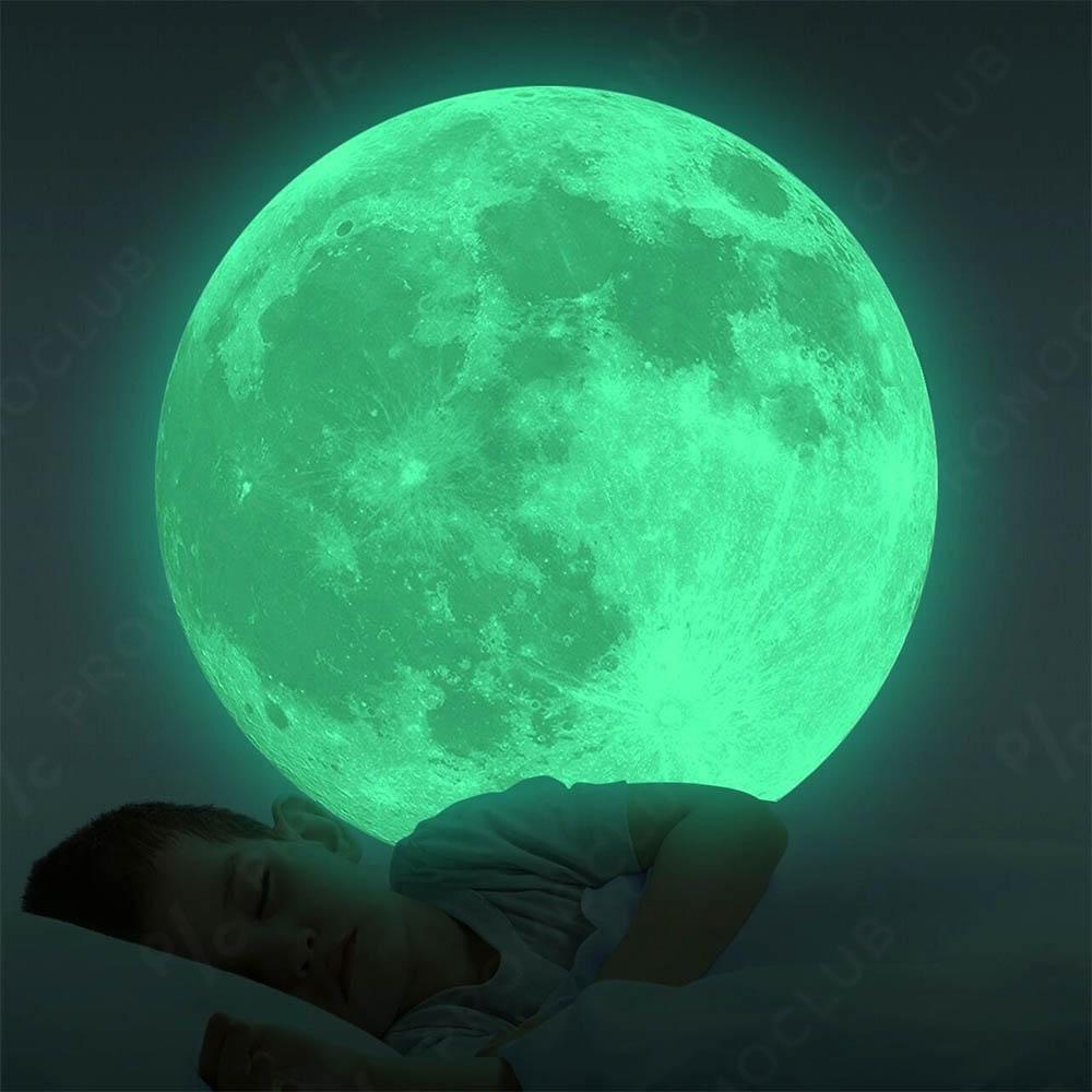 Фосфорисцираща в тъмното  Луна, висококачествен стикер