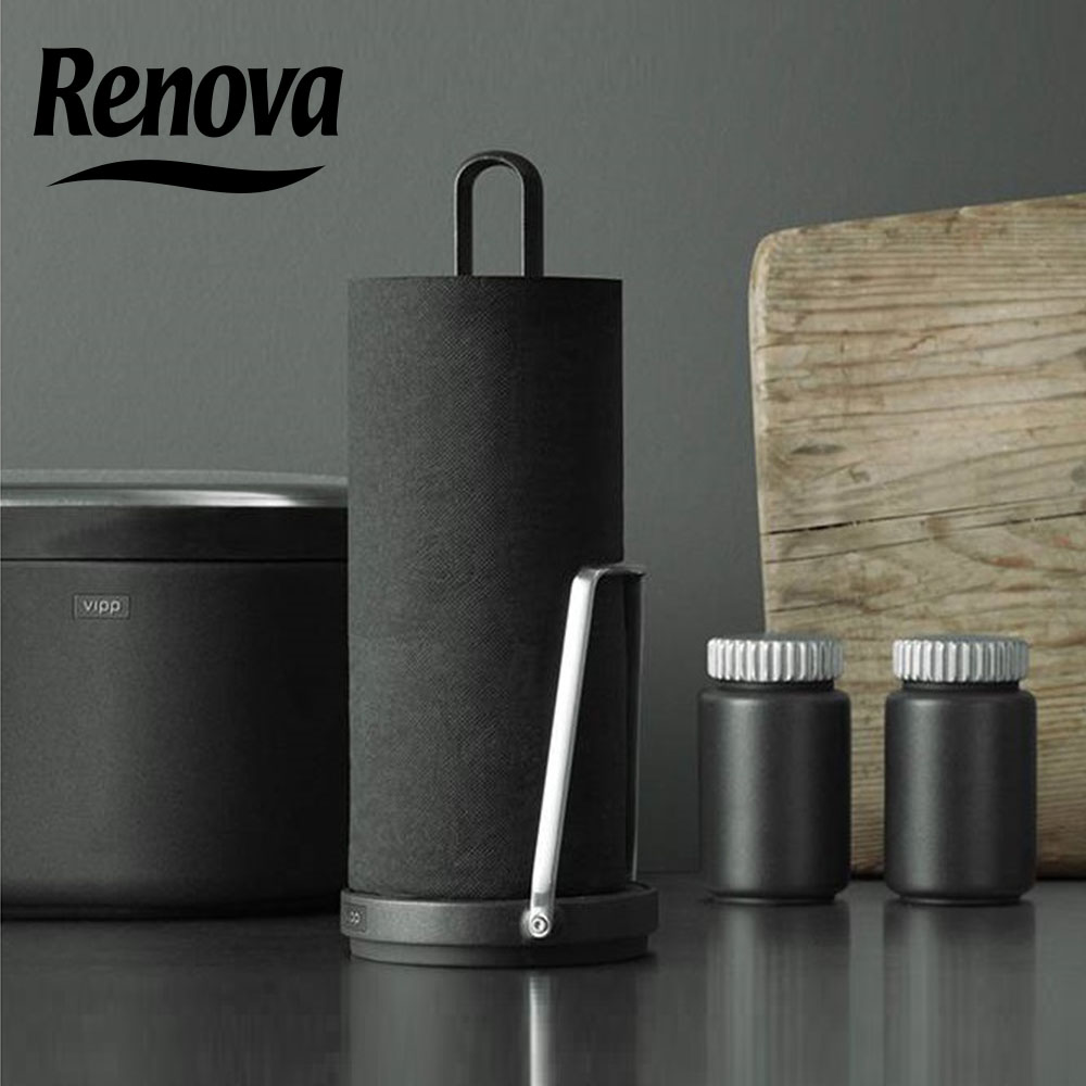 2 ролки черна кухненска хартия RENOVA, висок клас