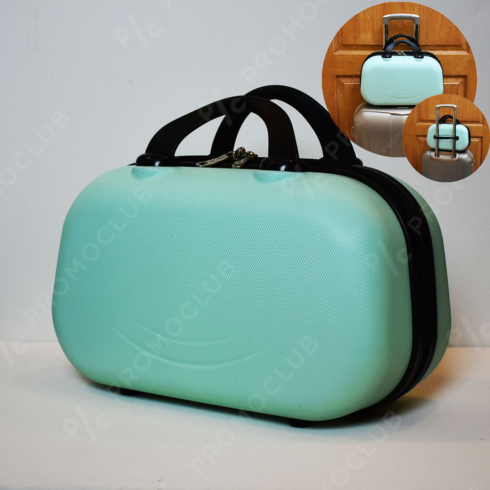 Рядък дизайн куфарна пътна чанта LADY B MINT, твърда ABS и ПОДАРЪК - трицифрен катинар