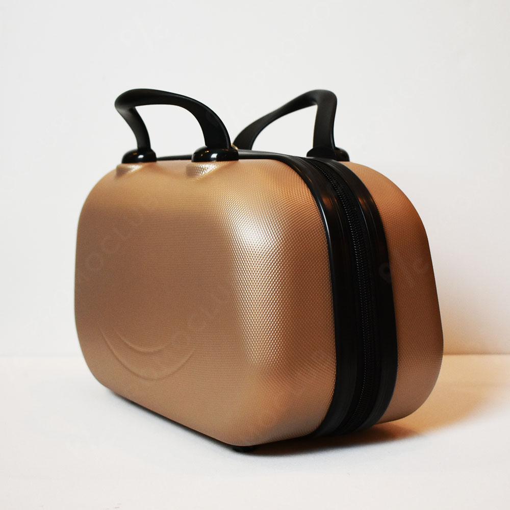 Рядък дизайн куфарна пътна чанта LADY B GOLD, твърда ABS