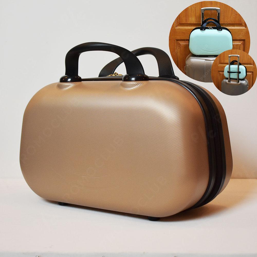 Рядък дизайн куфарна пътна чанта LADY B GOLD, твърда ABS и ПОДАРЪК - трицифрен катинар