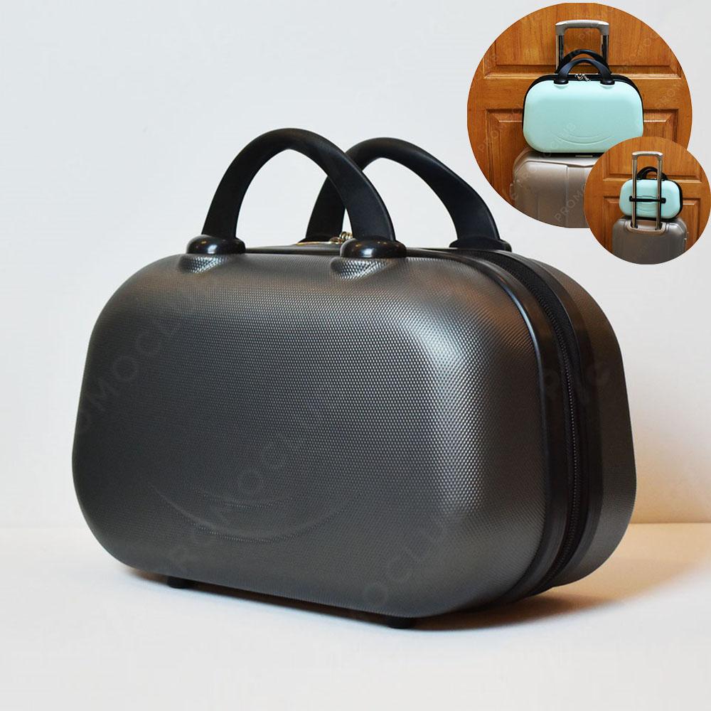 Рядък дизайн куфарна пътна чанта LADY B GRAPHITE твърда ABS и ПОДАРЪК - трицифрен катинар