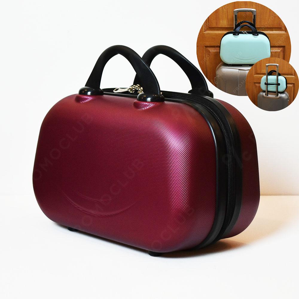 Рядък дизайн куфарна пътна чанта LADY B BORDEAUX, твърда ABS и ПОДАРЪК - трицифрен катинар