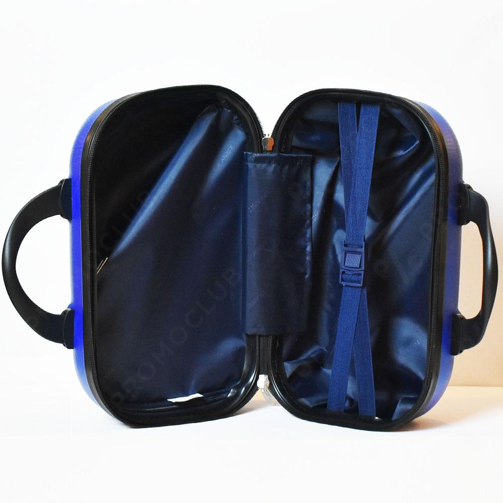 Рядък дизайн куфарна пътна чанта LADY B LIGHT BLUE, твърда ABS и ПОДАРЪК трицифрен катинар