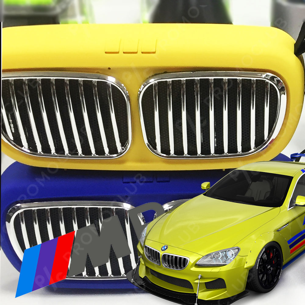 BMW DESIGN YELLOW портативна тонколона, мощна с кристален звук, FM, MP3, SD, AUX