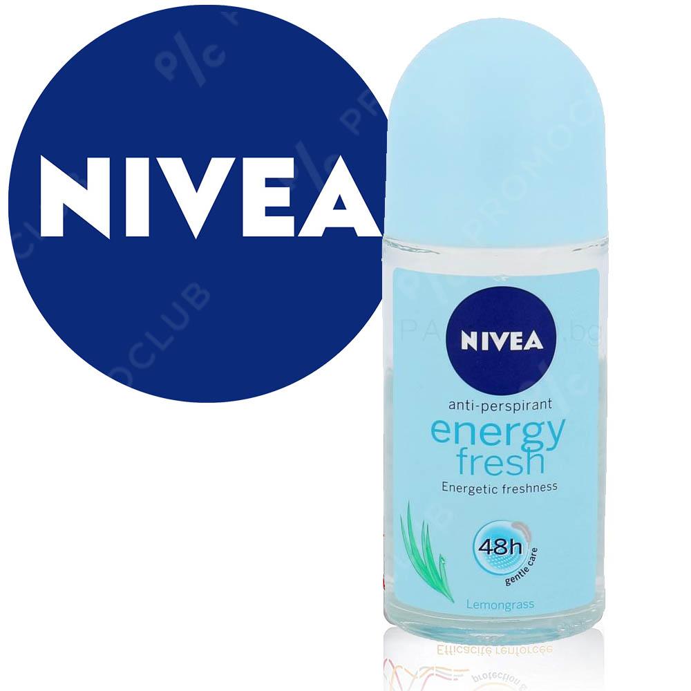 Ролон Nivea ENERGY FRESH 48h срещу изпотяване и 48 часа защита, 50 ml.