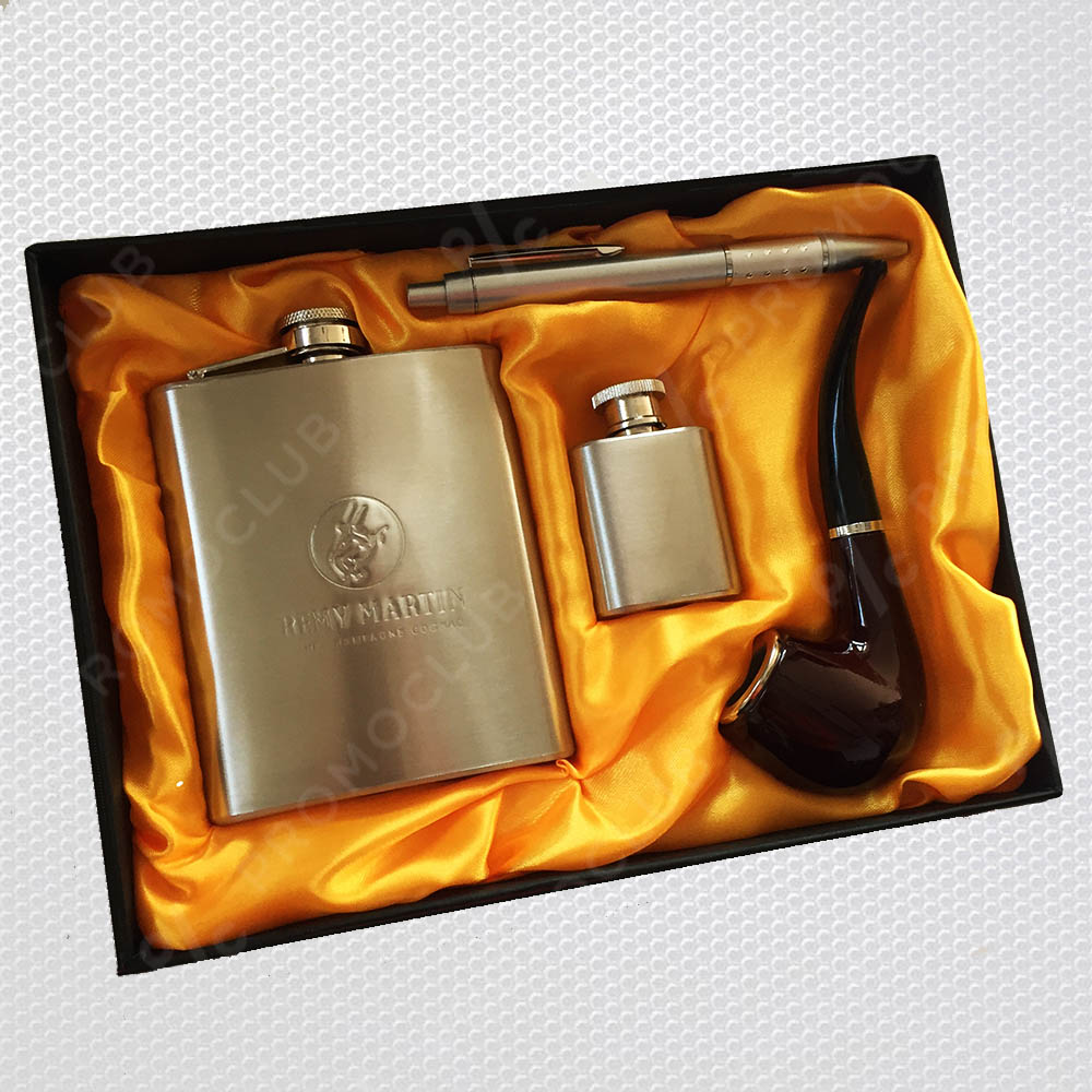 Ювелирен подаръчен комплект YH2 REMY MARTIN TOUGH MEN, неръждаема стомана, лукс пак