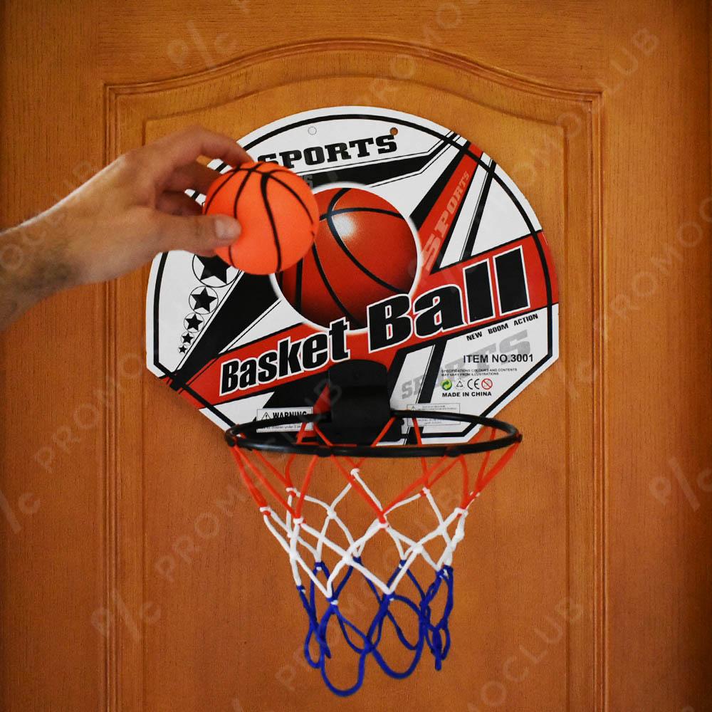 Голям домашен баскетболен кош с мека топка за безопасна игра