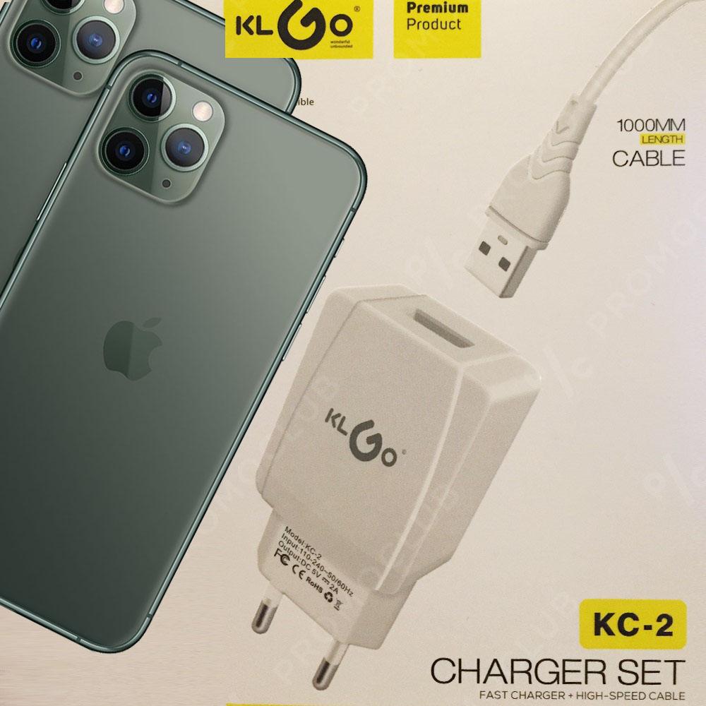 Мощни iPhone зарядно и кабел KLGO KC-2, висок клас