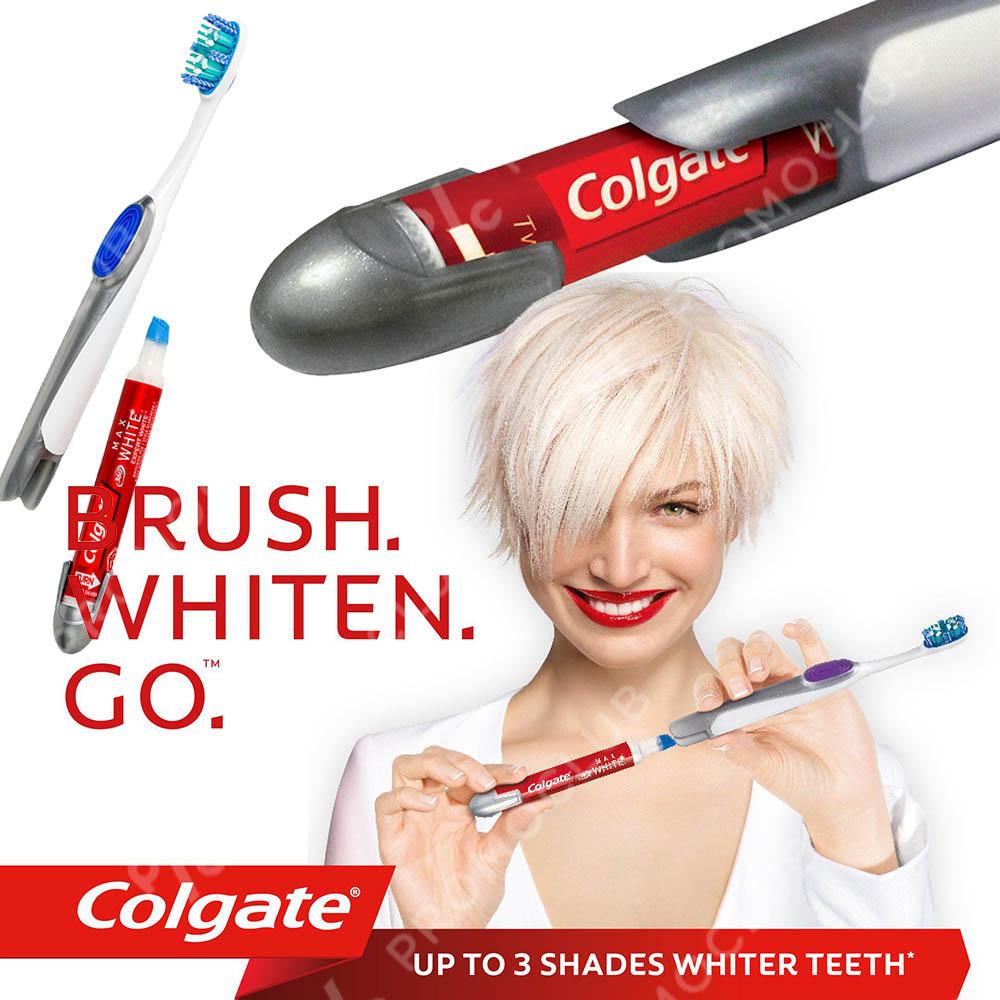 Избелваща писалка и четка за зъби COLGATE MAX WHITE, ТОП КОМПЛЕКТ