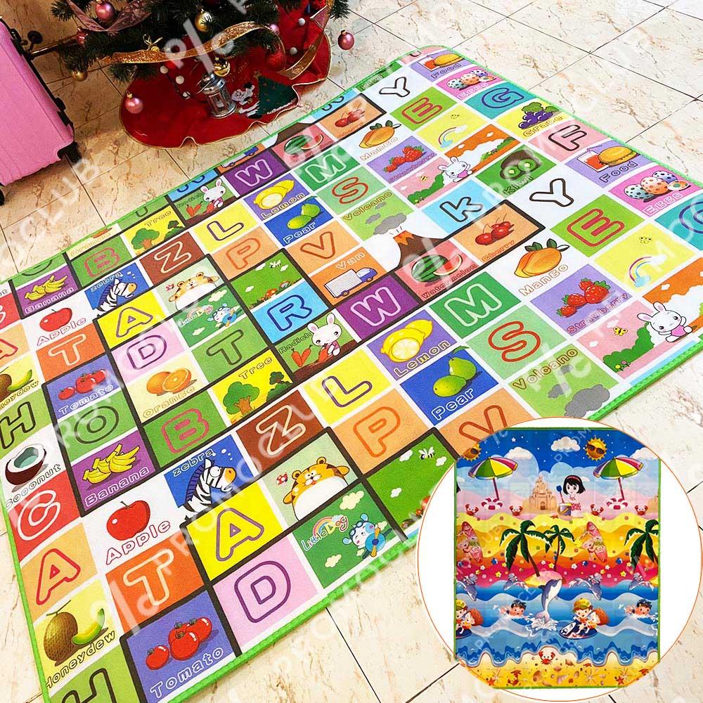 Голямо детско килимче с две лица, топло изолационно, 180х150 см