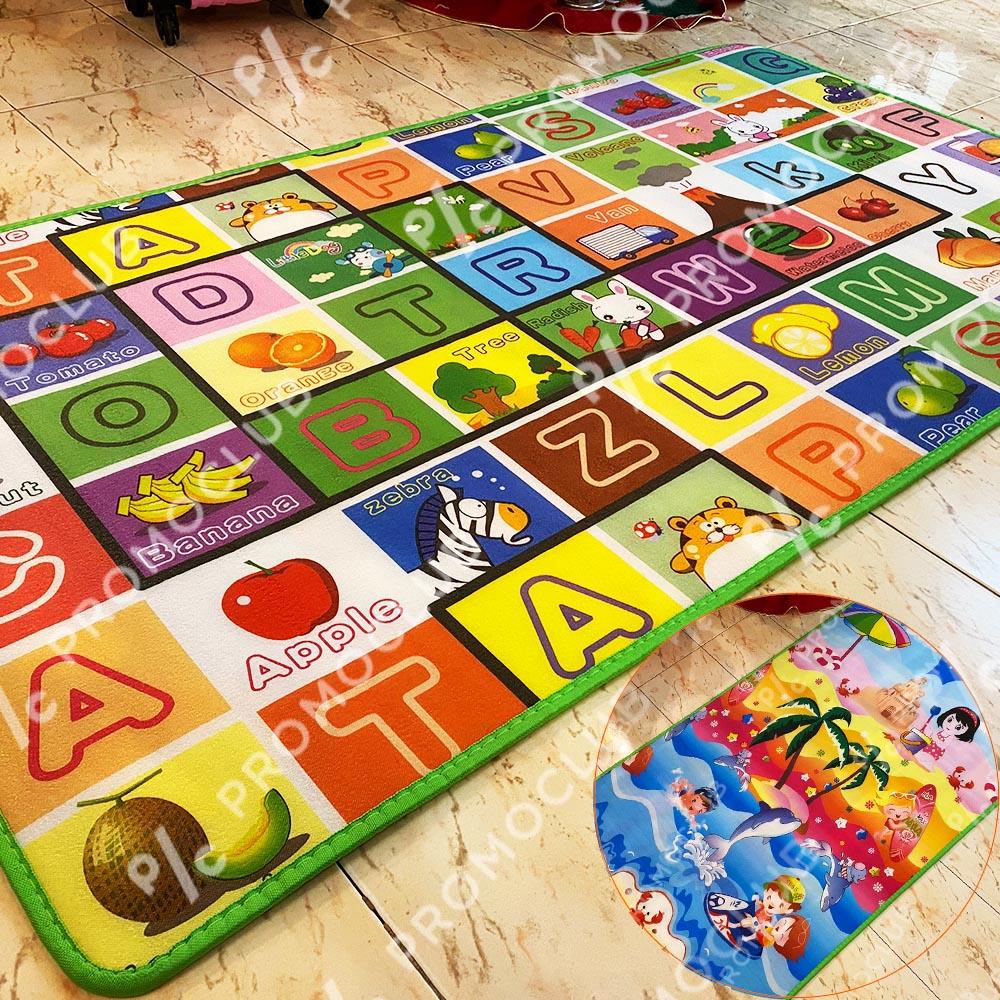 Детско килимче с две лица, 150х120 см, топло изолационно