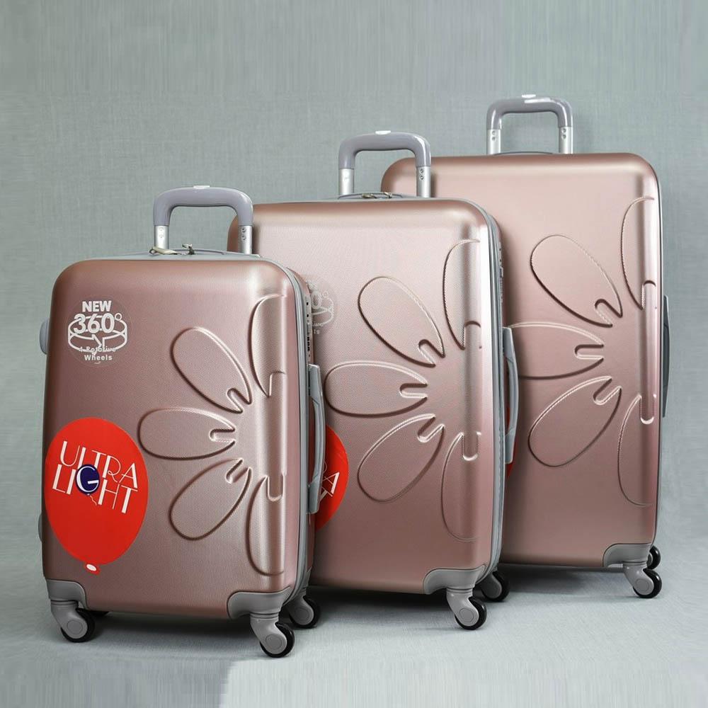 Комплект леки PVC авио спинъри - куфари PL 8081 La FLEUR  ROSE