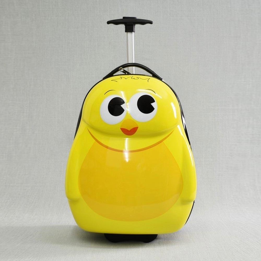 Детски куфар на колела YELLOW PINGUIN 31799, изтегляща се дръжка за теглене, поликарбон