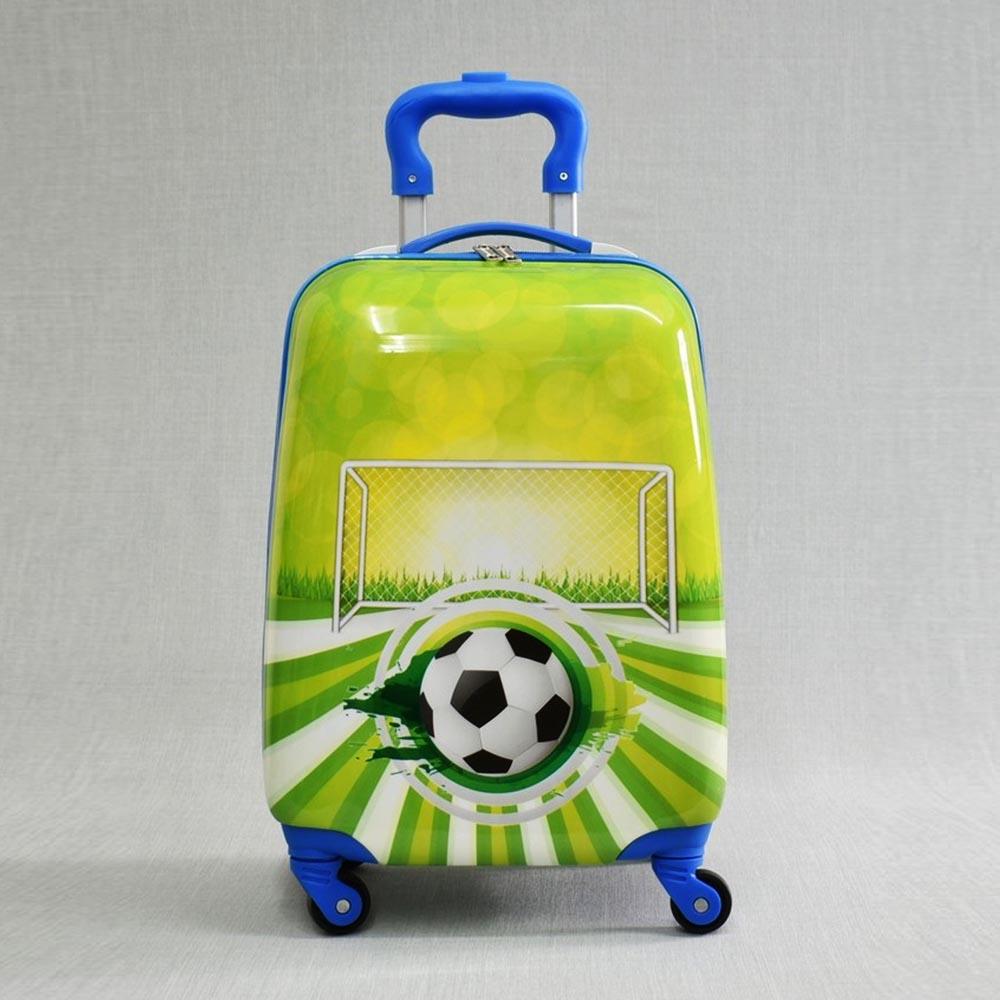 Детски куфар FOOTBALL 31800, 4 безшумни колела, изтегляща се дръжка, поликарбон