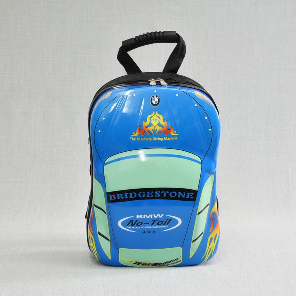 3D детска раница BLUE CAR 31890, поликарбон, 3-8 г.