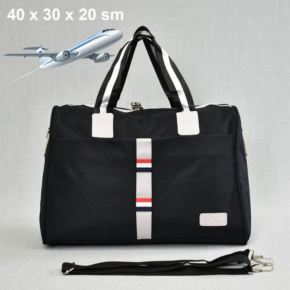 Куфарен авио сак TOMMY H 12006 BLACK SPORT за ръчен багаж,  20 х 30 х 40 см