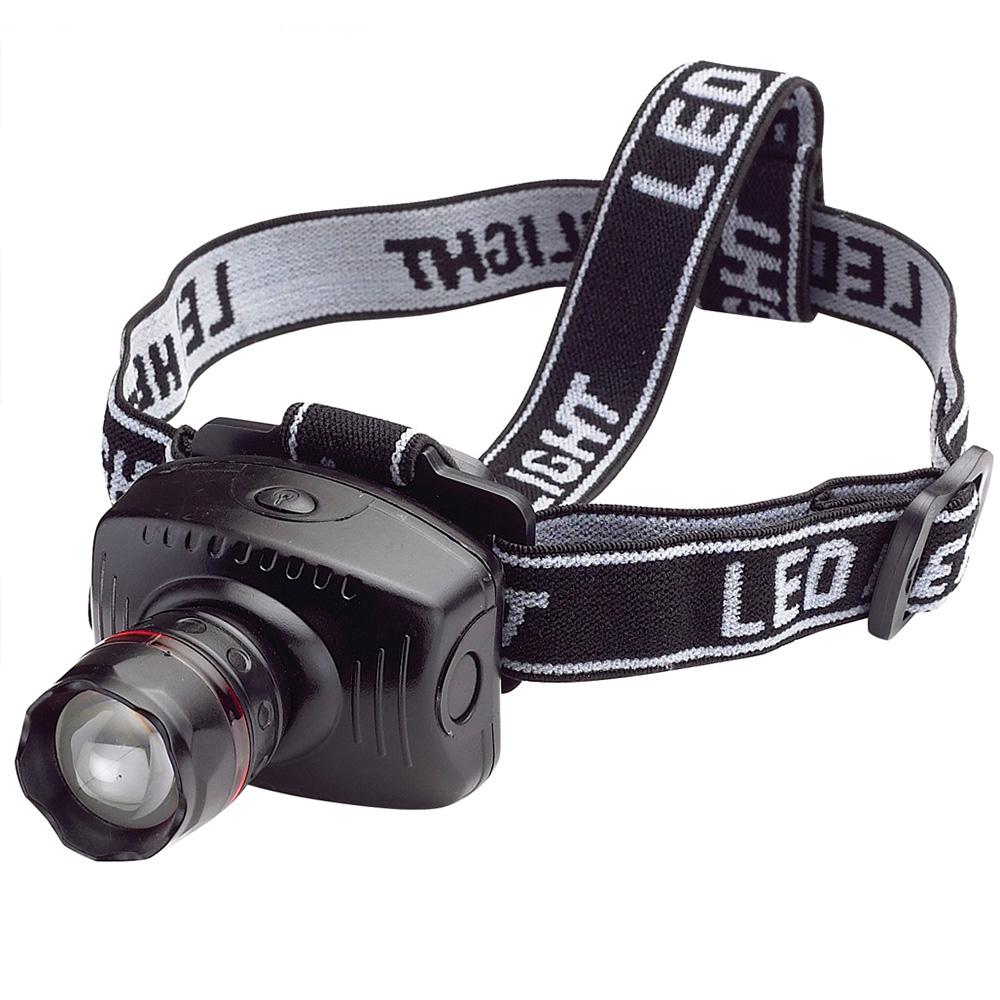Мощен LED челник със ZOOM и фокусировка LL6611 CREE T6,  3xAAА, ТОП ЦЕНА