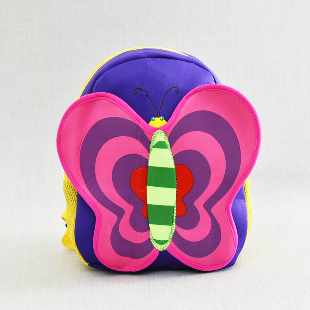 Лека компактна детска раица BUTTERFLY 21089 Purple, анатомичен гръб, лилава пеперуда