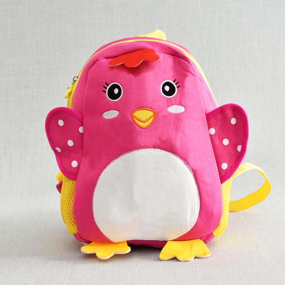 Лека детска раничка BURD PINK 31389, розово пиле