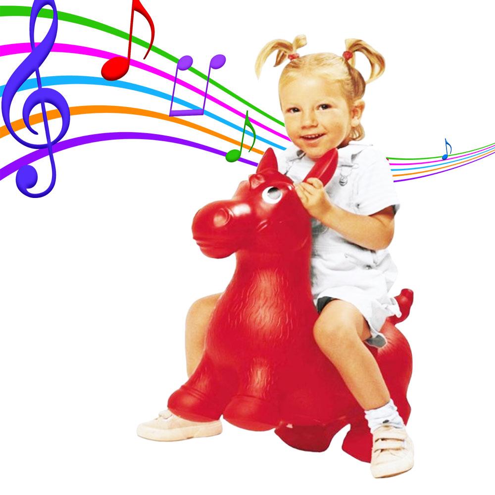 Музикално магаренце за скачане JOHN DONKEE, в произволен случаен цвят, 3+