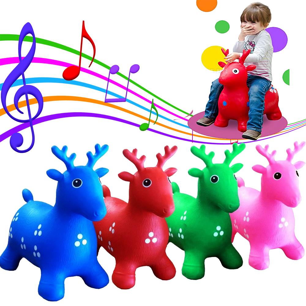 Музикално еленче за скачане PETE DEER, в произволен случаен цвят, 3+