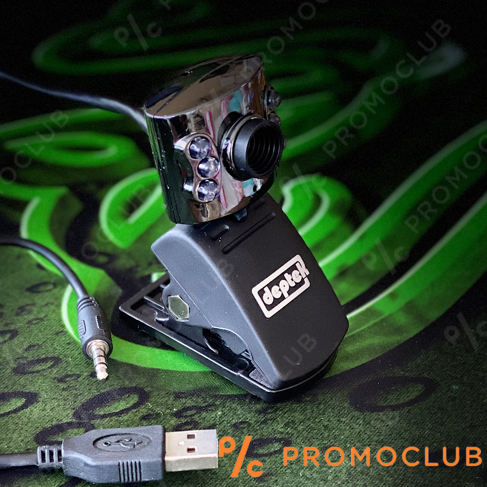 WEB камера  с микрофон и осветление DEPTEK C805, самостояща щипка, ТОП цена