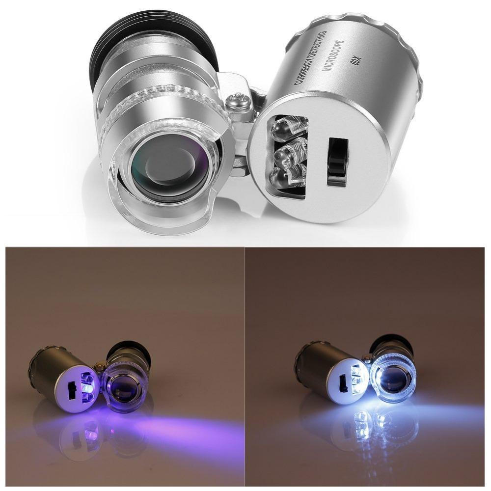 Портативен микроскоп за мобилен телефон с увеличение 60X CELLPHONE MICROSCOPE 60X