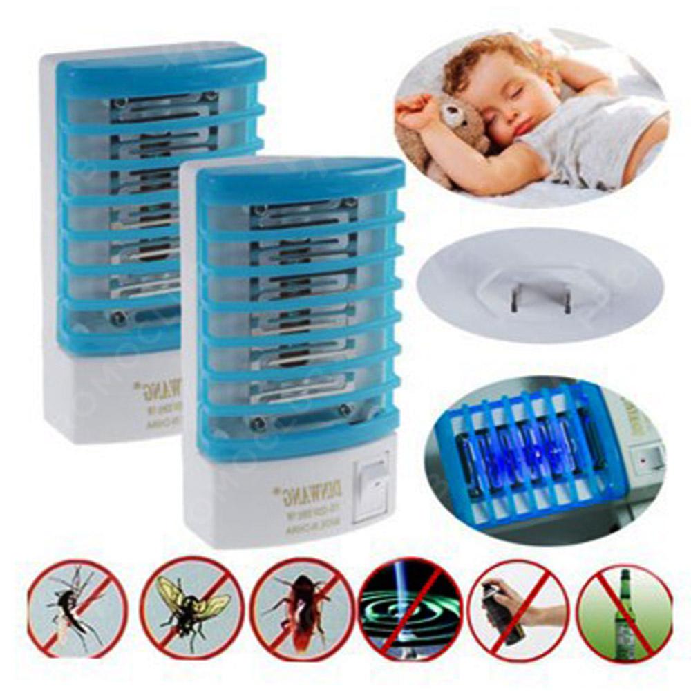 Мини лампа срещу комари DINWANG ANTI MOSQUITO BLUE LED