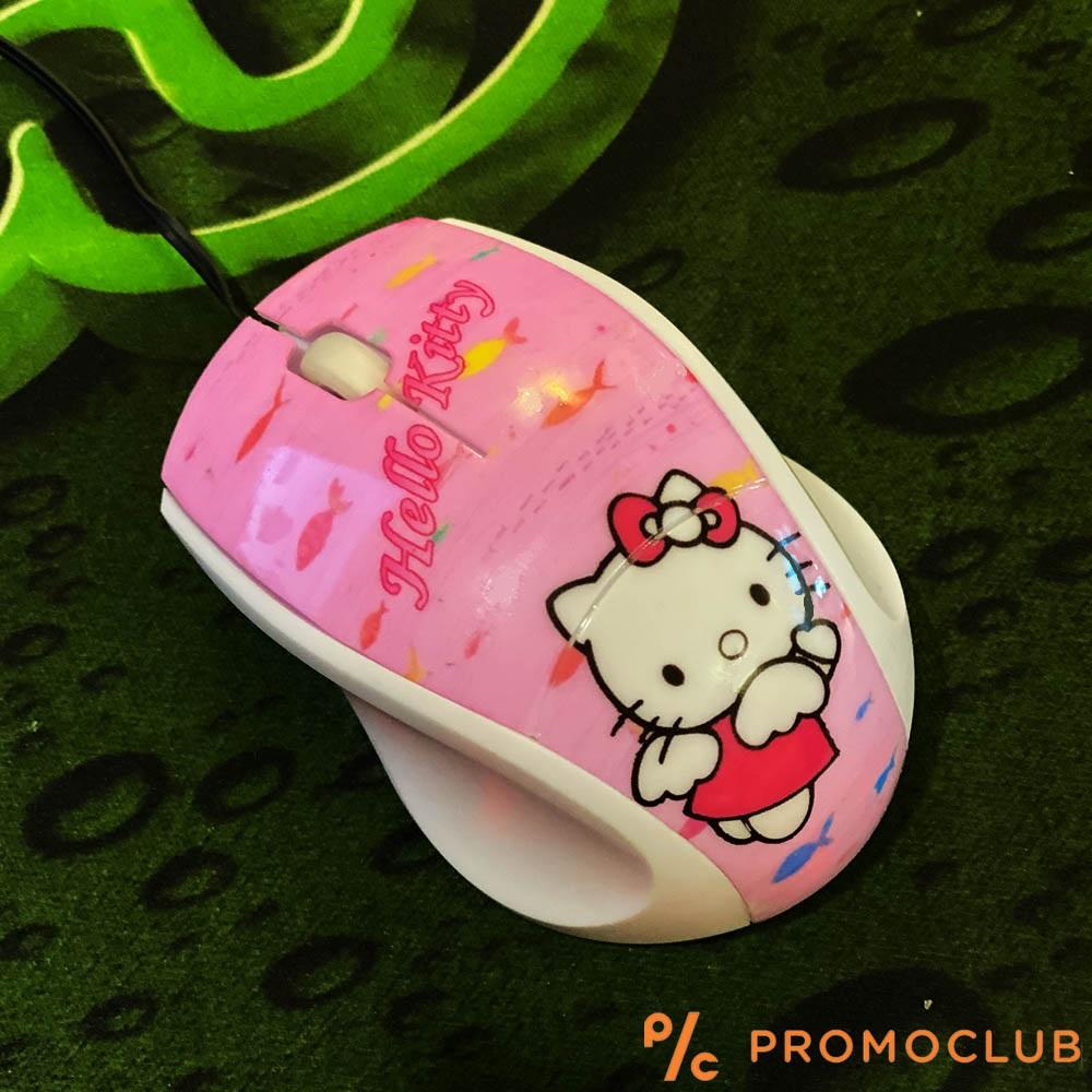 Уникална USB мишка HELLO KITTY с прибиращ се кабел, за детски ръчички