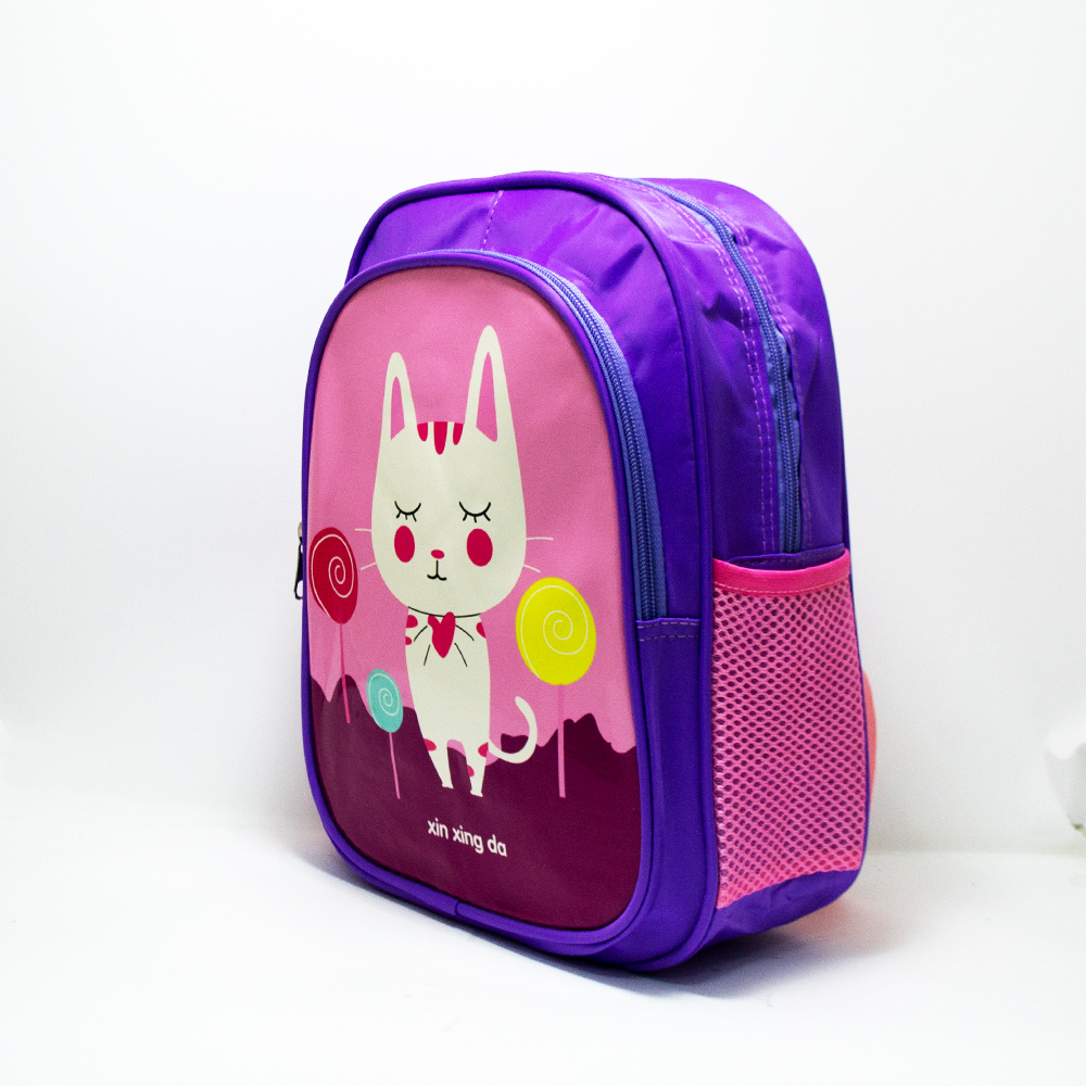 Компактна детска раница 9285 PINK KITTY,  32 см.