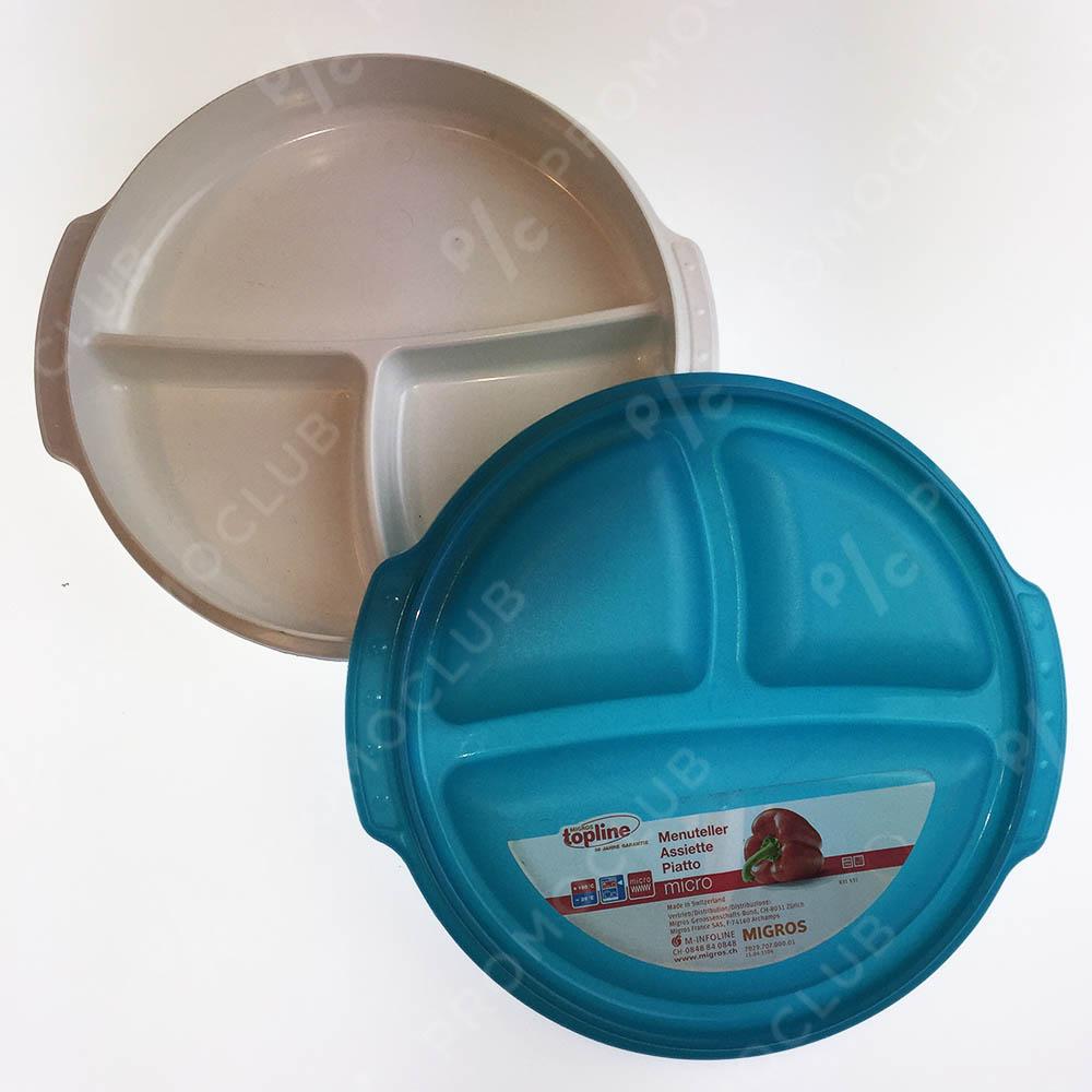Висок клас херметична кутия за храна TOPLINE, 3 отделения, миккровълнова