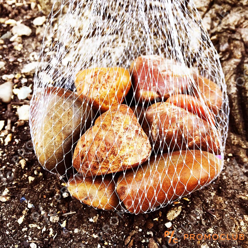 Декоративни кафяви камъчета,  малка торбичка 370 гр.