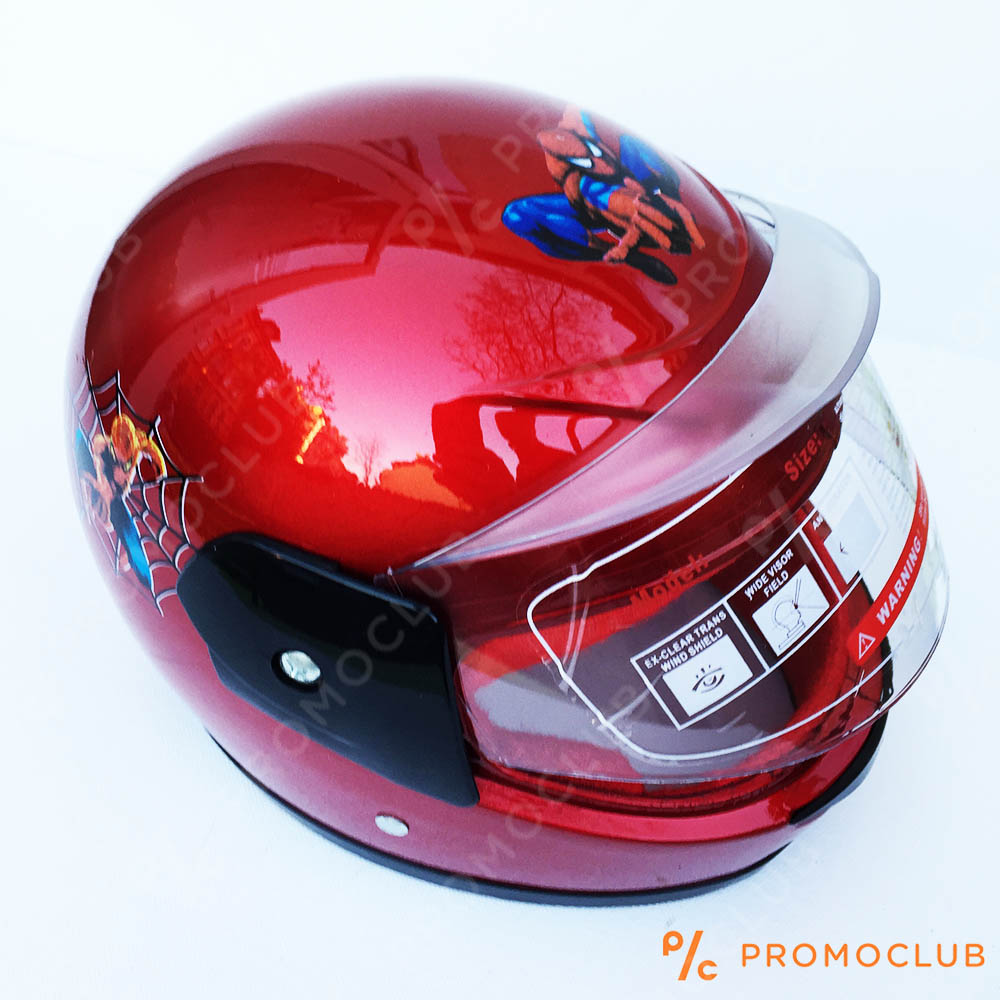 Детска мото каска SPIDERMAN RED, 4-8 г,