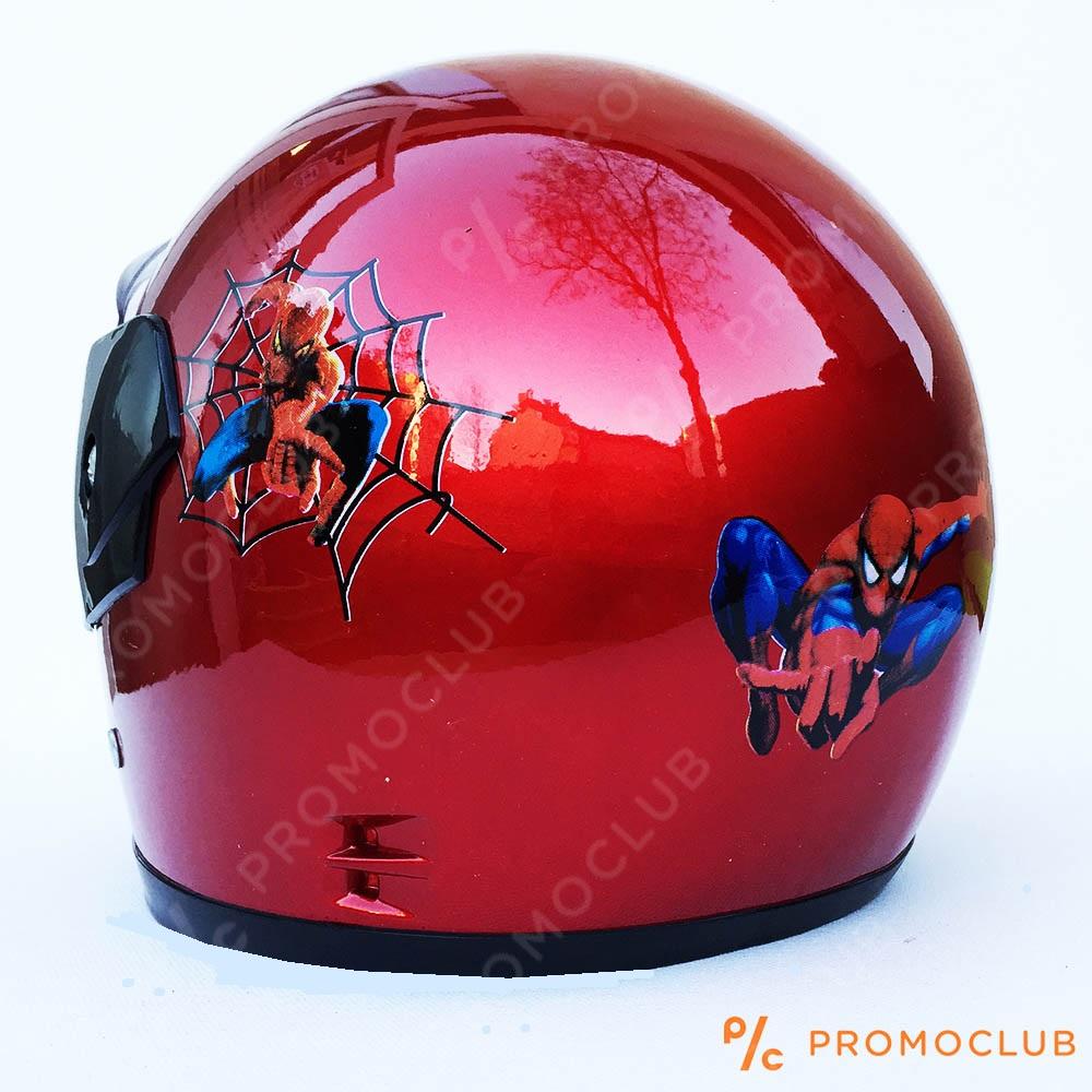 Детска мото каска SPIDERMAN RED, 4-8 г,