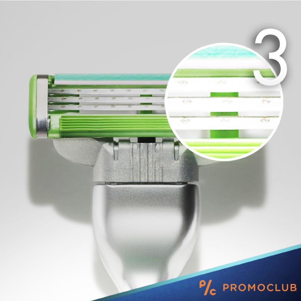 Самобръсначка Gillette Mach 3 Sensitive, три ножчета, една глава