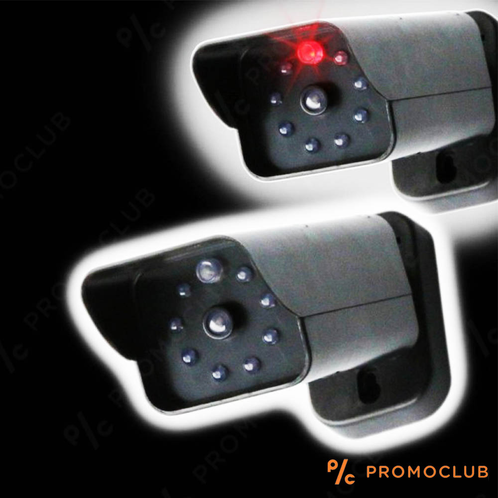 Автентична бутафорна охранителна камера SYL1414 с мигащ червен LED светодиод