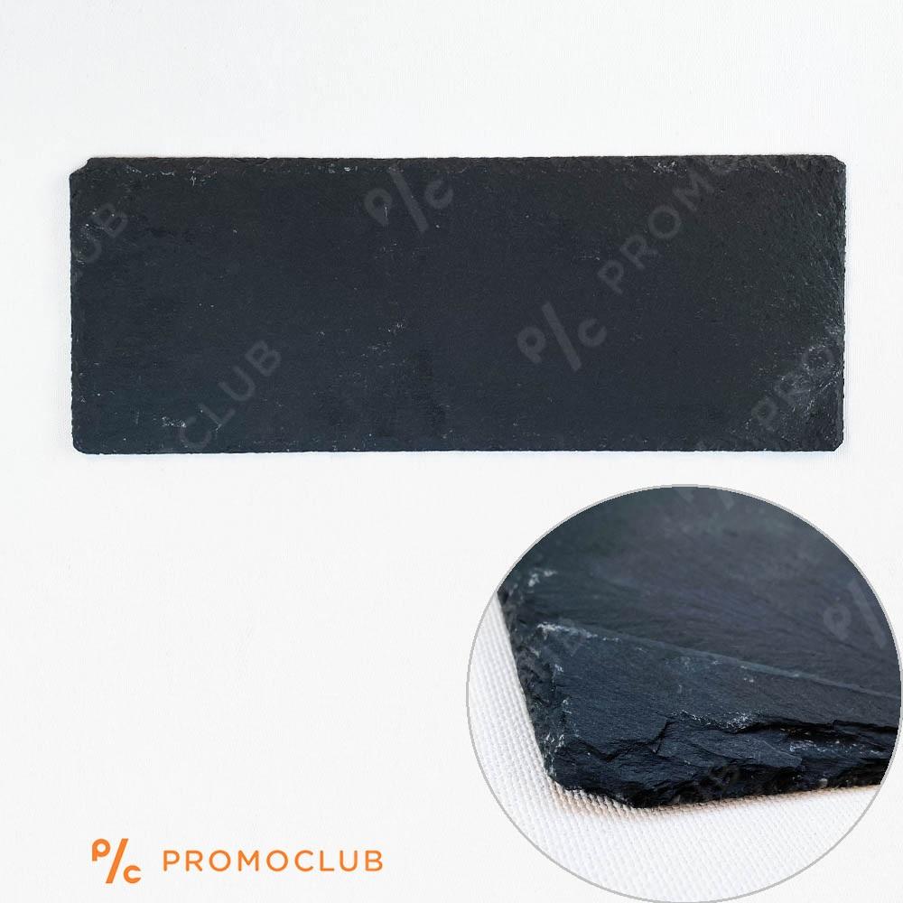 Черна каменна плоча за сервиране с гумени крачета, BLACK STONE LONG 40 x 15 см