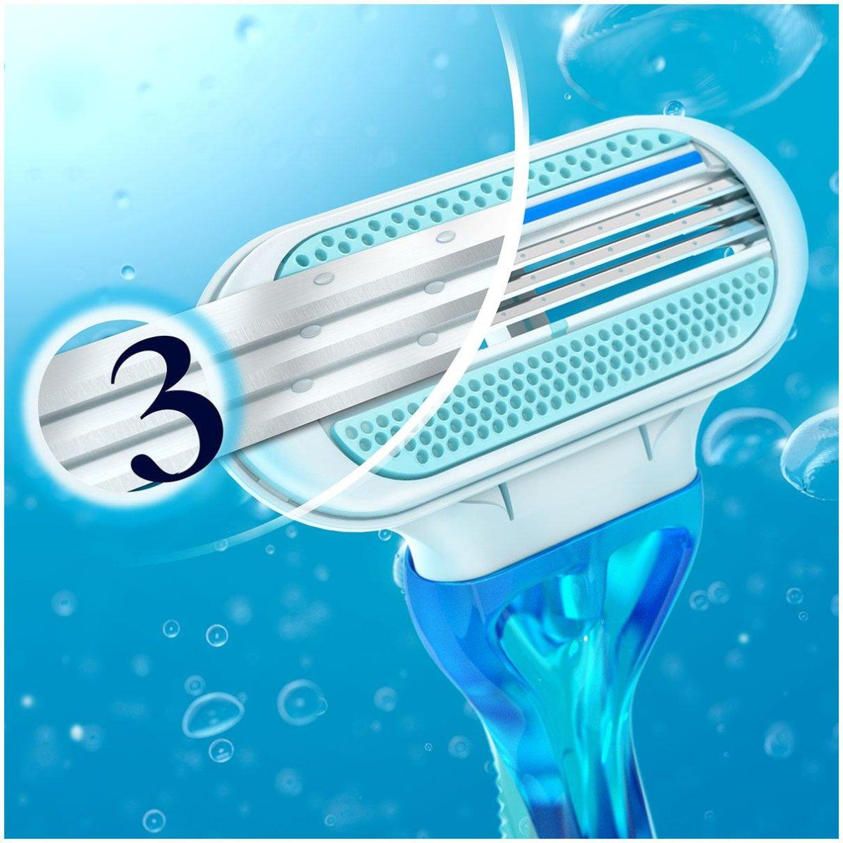 4  резервни ножчета с 3 остриета  за дамска самобръсначка Gillette VENUS Close & Clean