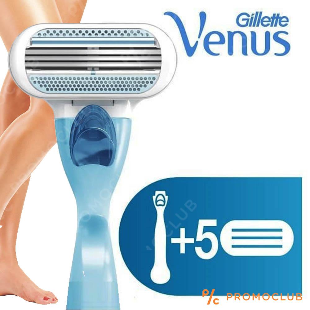 Дамска самобръсначка Gillette VENUS Close & Clean  с 5  резервни ножчета