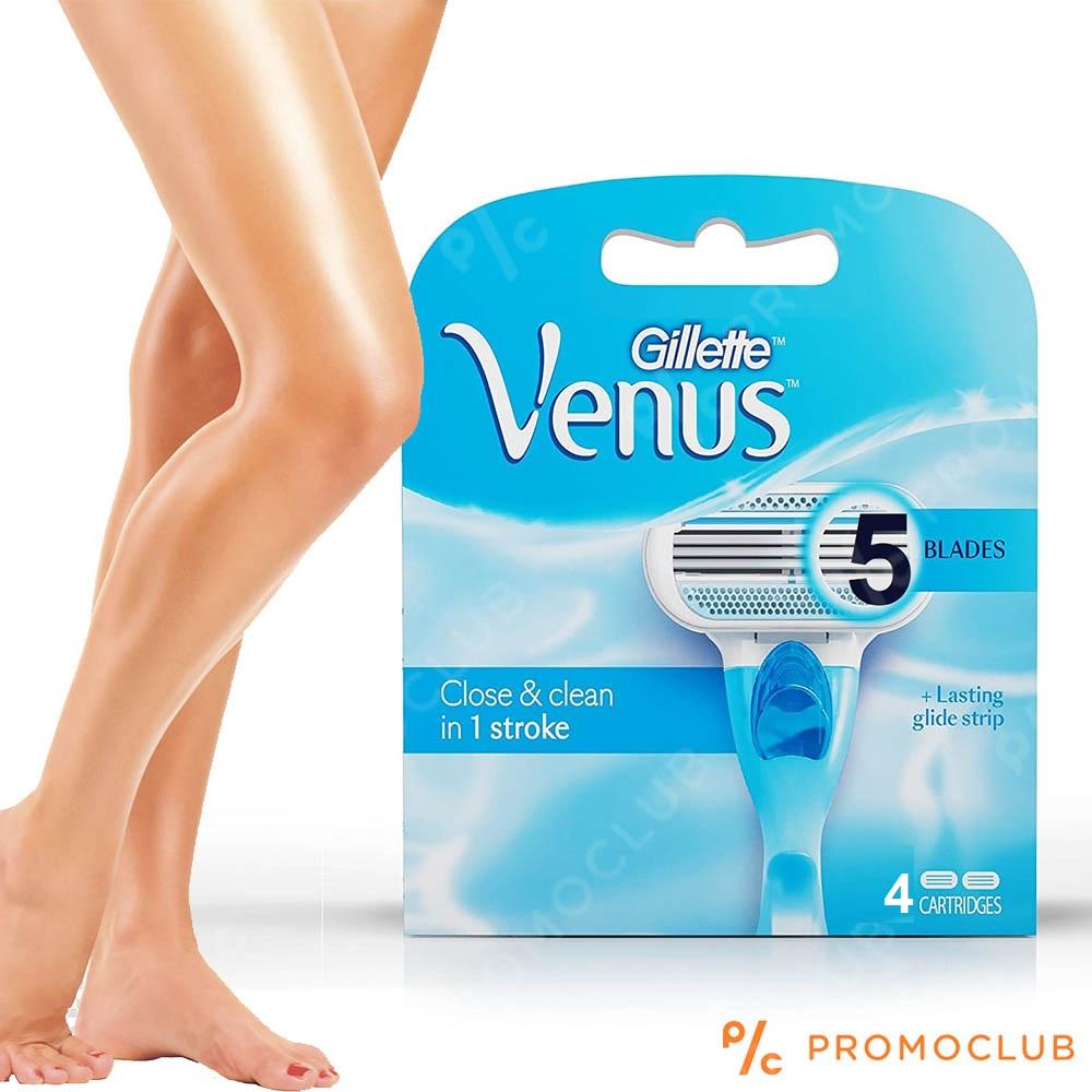 4  резервни ножчета за дамска самобръсначка Gillette VENUS Close & Clean