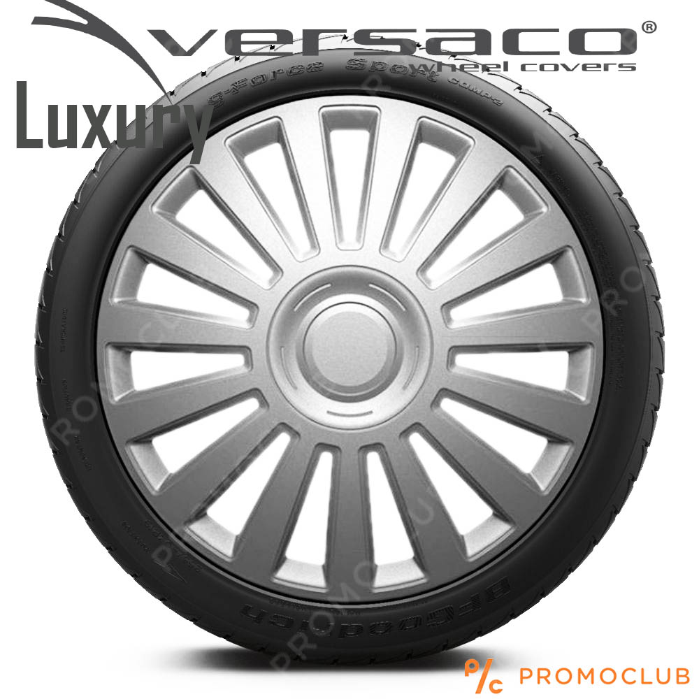 4 автомобилни тасове VERSACO LUXURY SILVER, размер 16 цола, висок клас