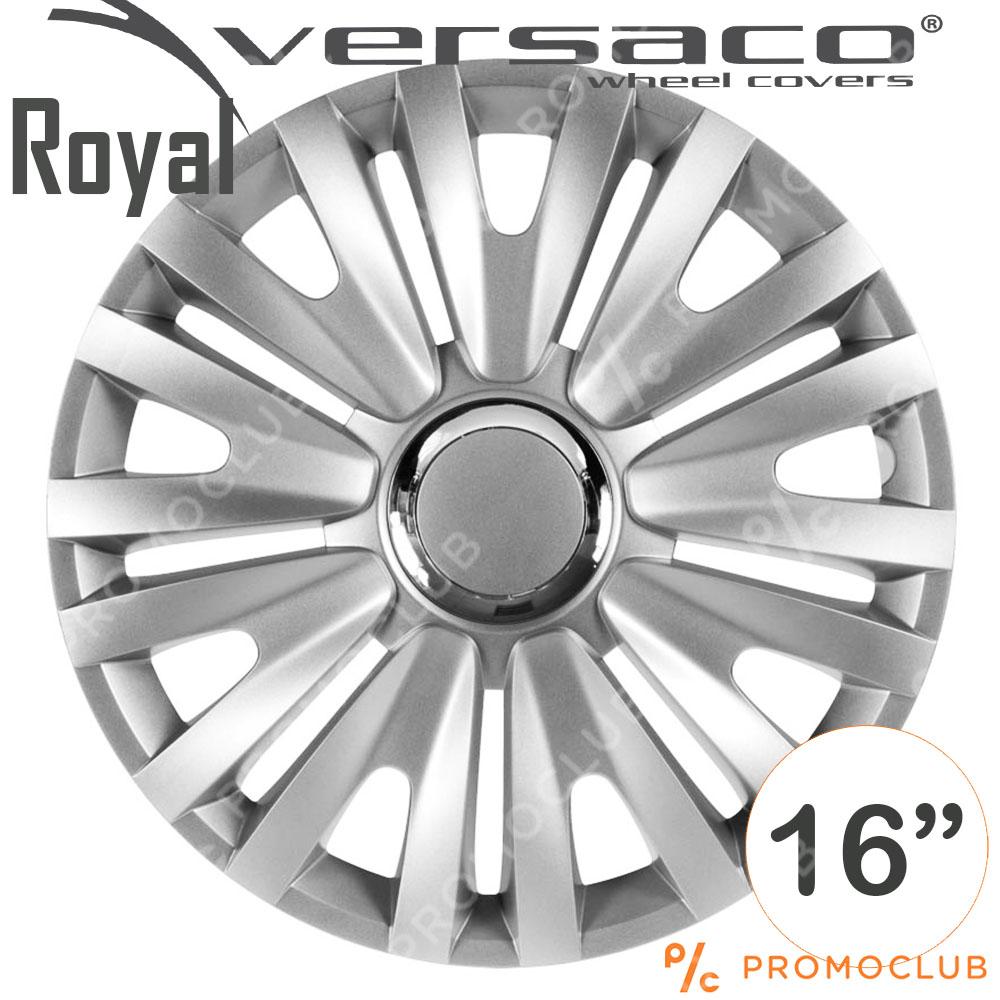 4 автомобилни тасове VERSACO ROYAL RC Silver, размер 16 цола, висок клас