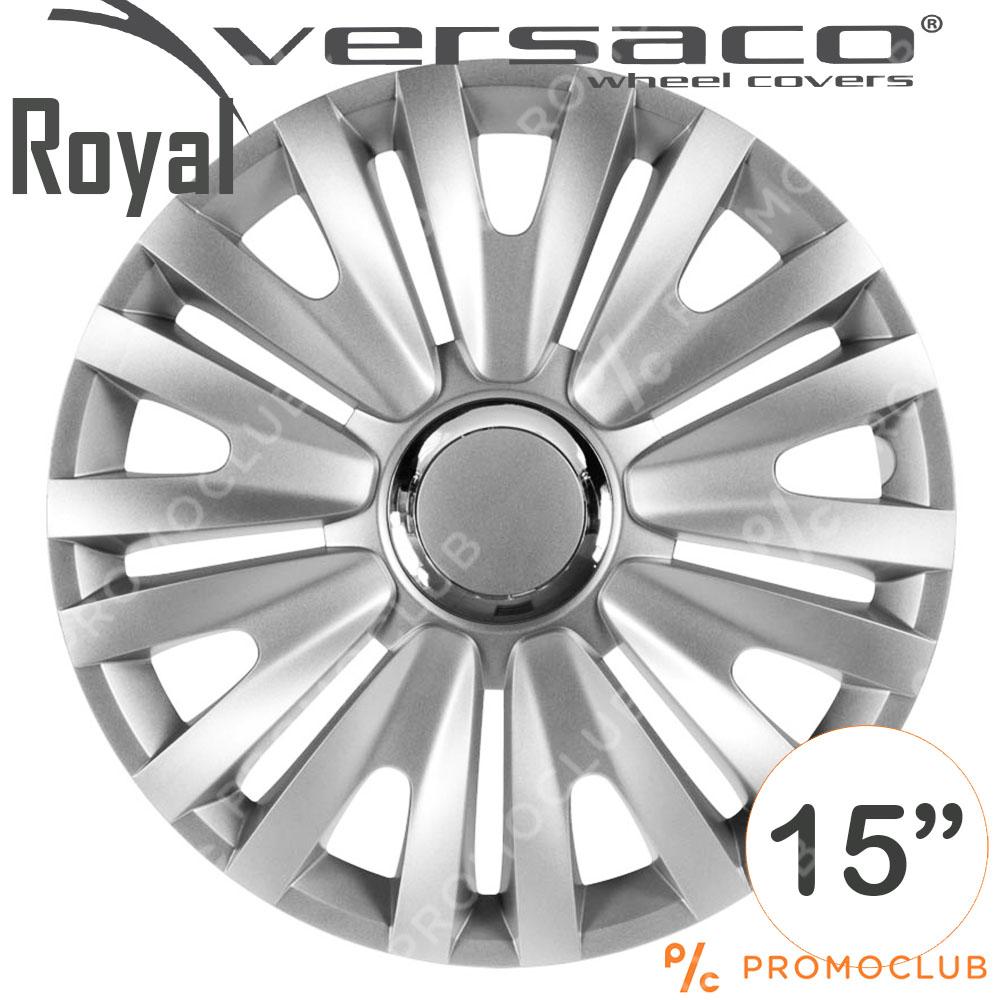 4 автомобилни тасове VERSACO ROYAL RC Silver, размер 15 цола, висок клас