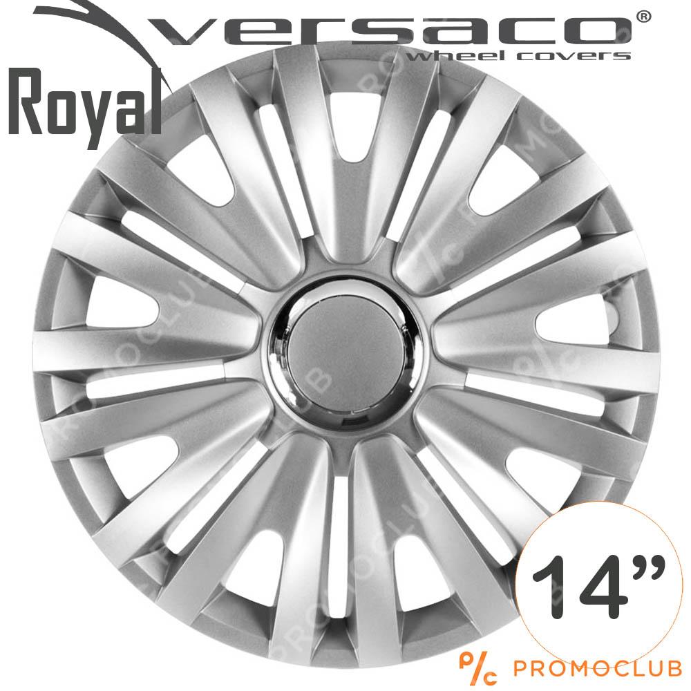4 автомобилни тасове VERSACO ROYAL RC Silver, размер 14 цола, висок клас