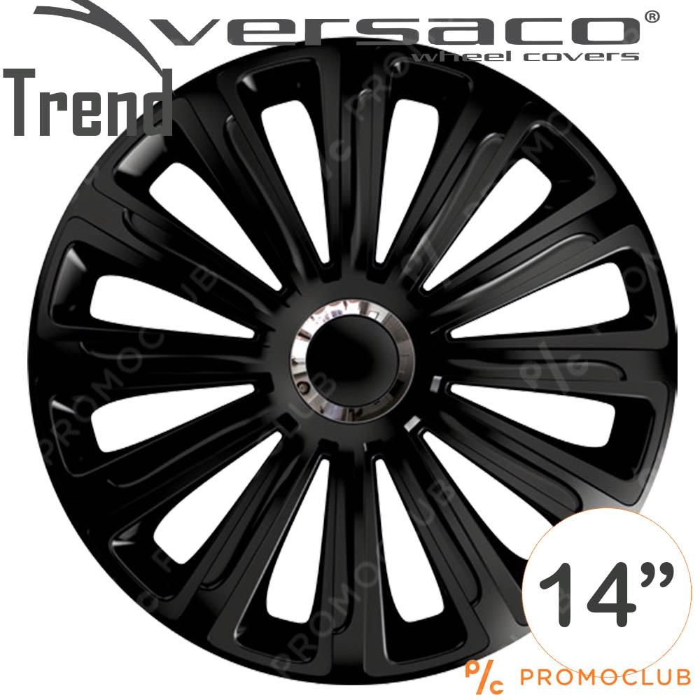 4 автомобилни тасове VERSACO TREND BLACK, размер 14 цола, висок клас