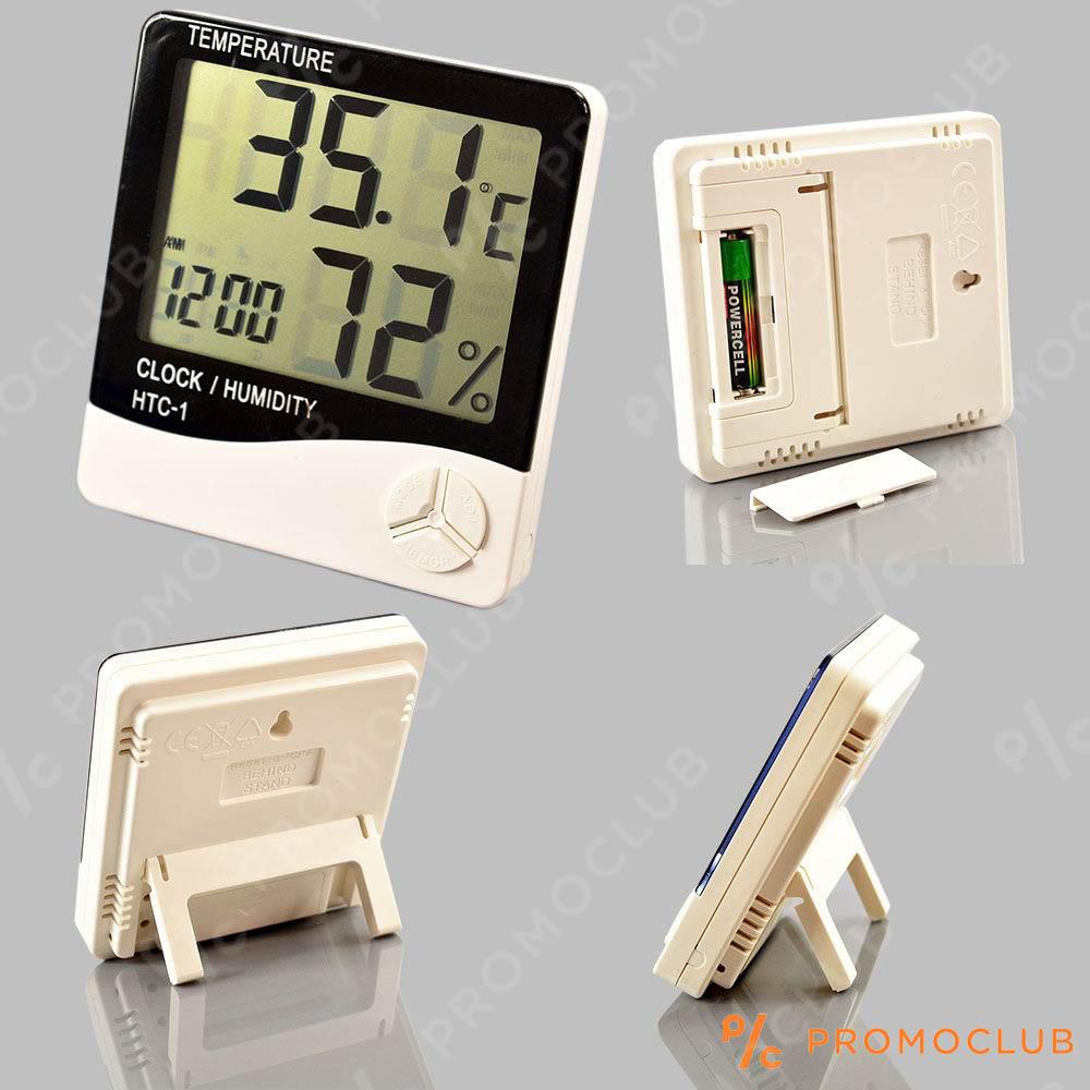 МЕТЕОСТАНЦИЯ HTC  1: eлектронен часовник, термометър, влагомер, аларма